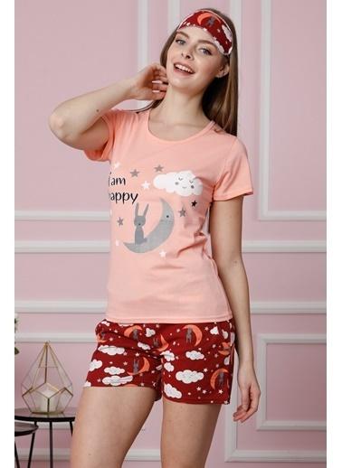 Akbeniz Pijama Takım Pudra